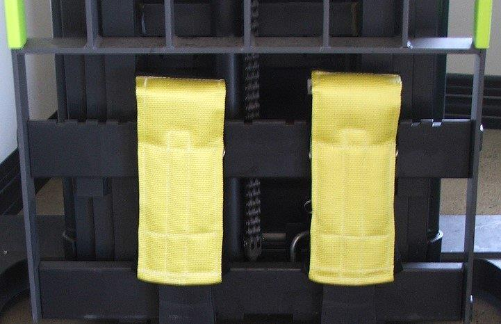 """Fork Toppers"" Protective Forklift Fork Back Covers"